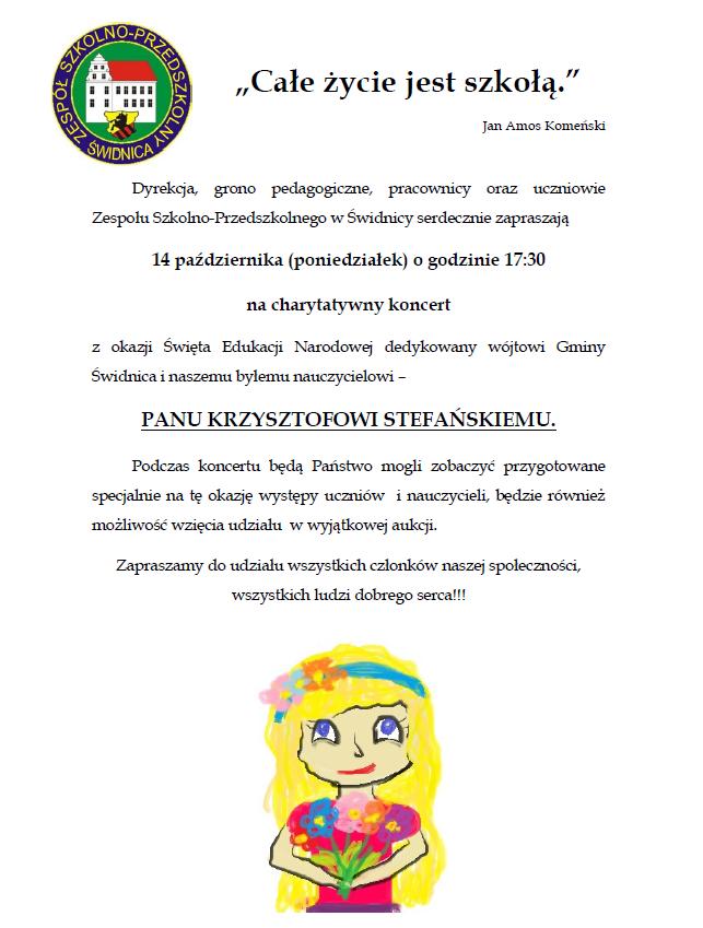 Ilustracja do informacji: Koncert charytatywny w szkole