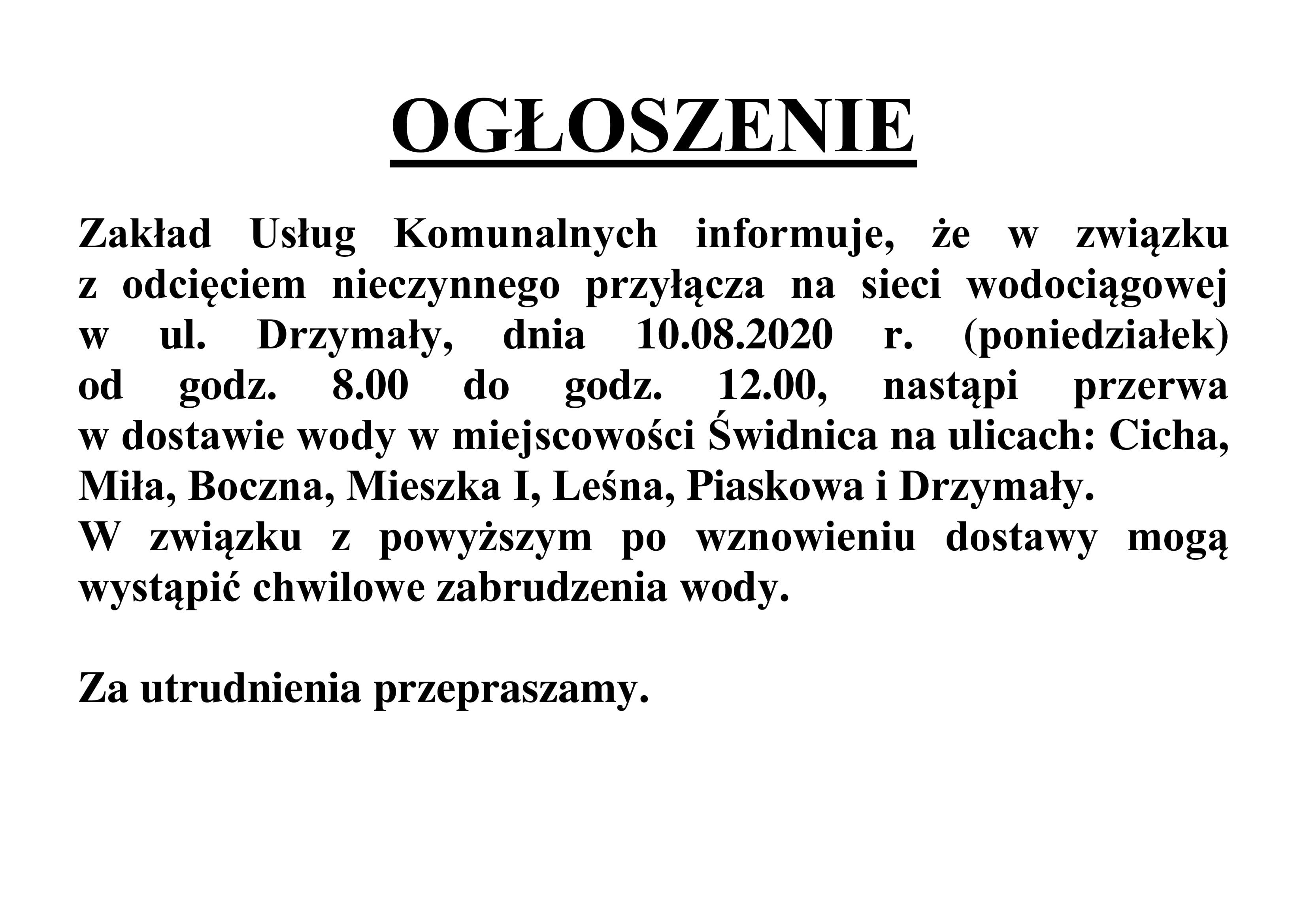 Ilustracja do informacji: Komunikat ZUK