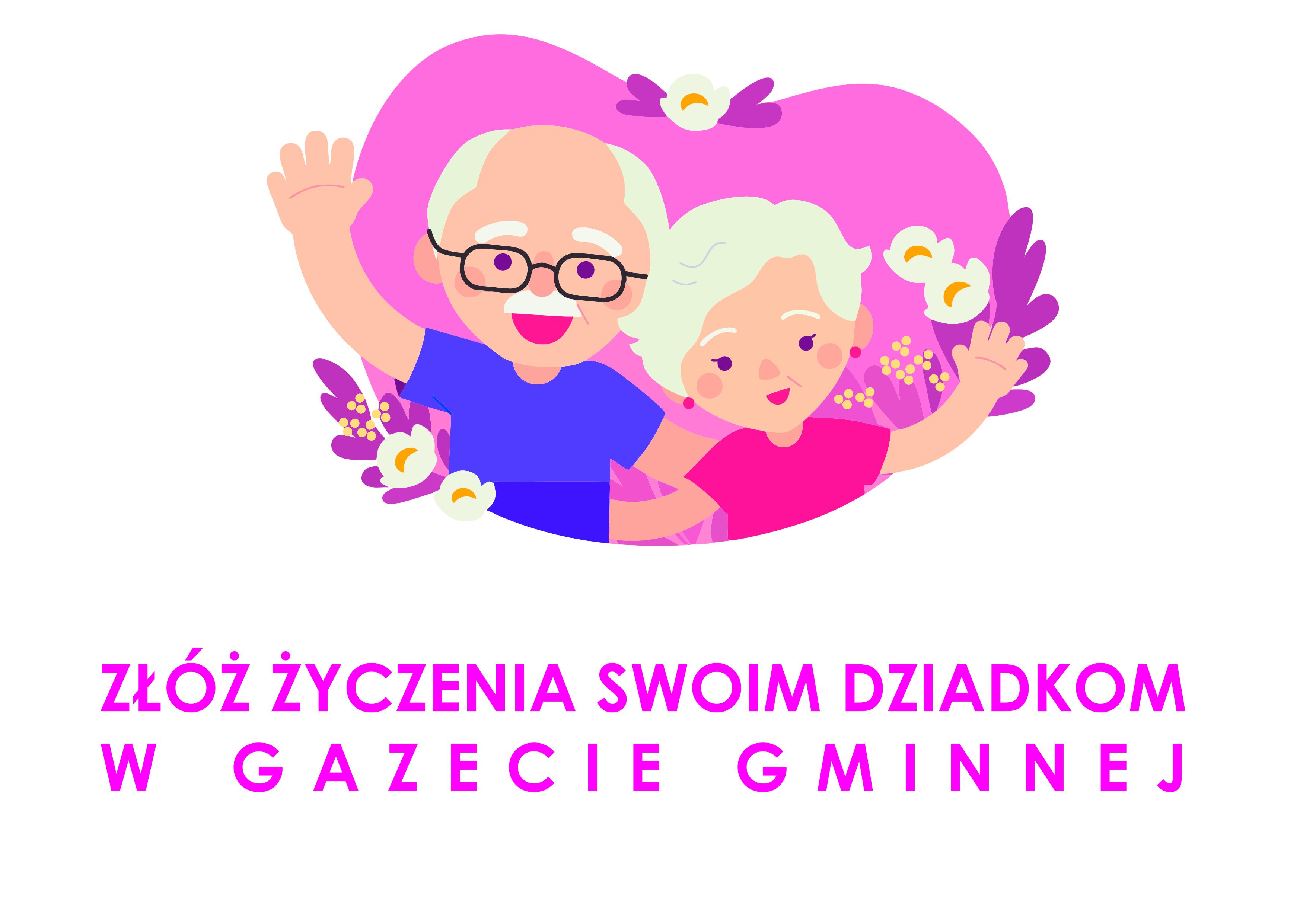 Ilustracja do informacji: Życzenia dla babci i dziadka