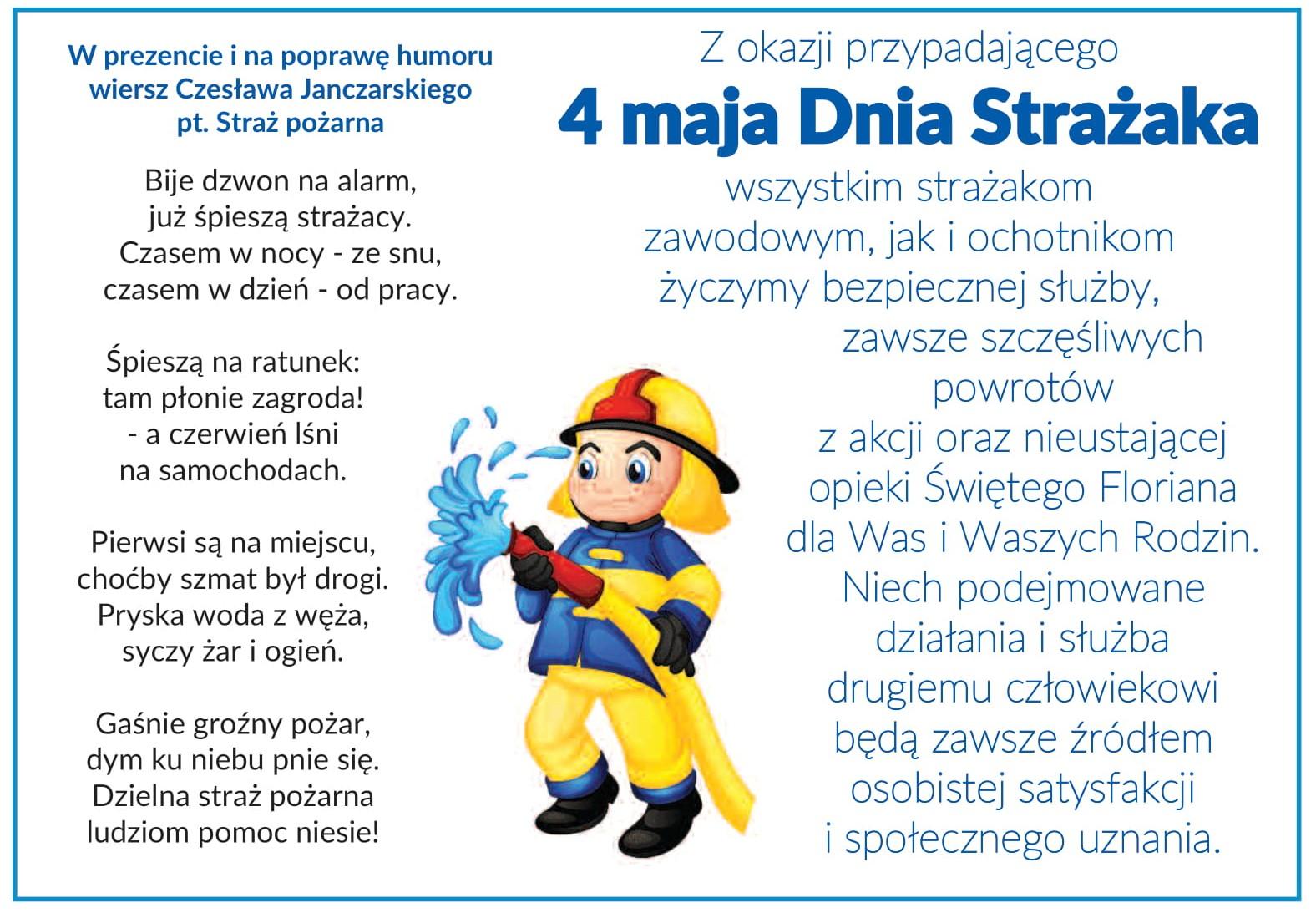Ilustracja do informacji: Dzień Strażaka