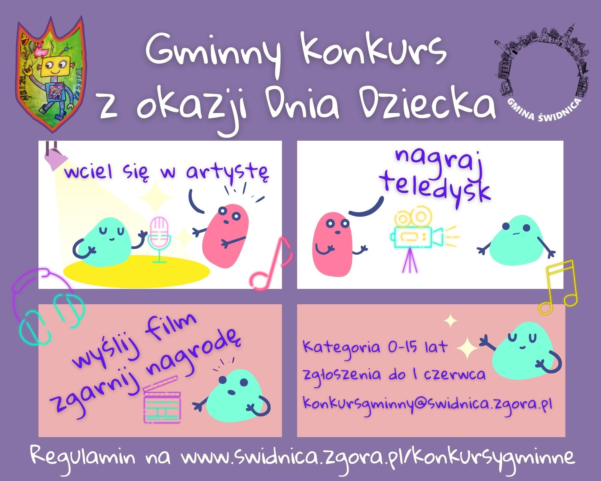 Ilustracja do informacji: Gminny konkurs z okazji Dnia Dziecka!