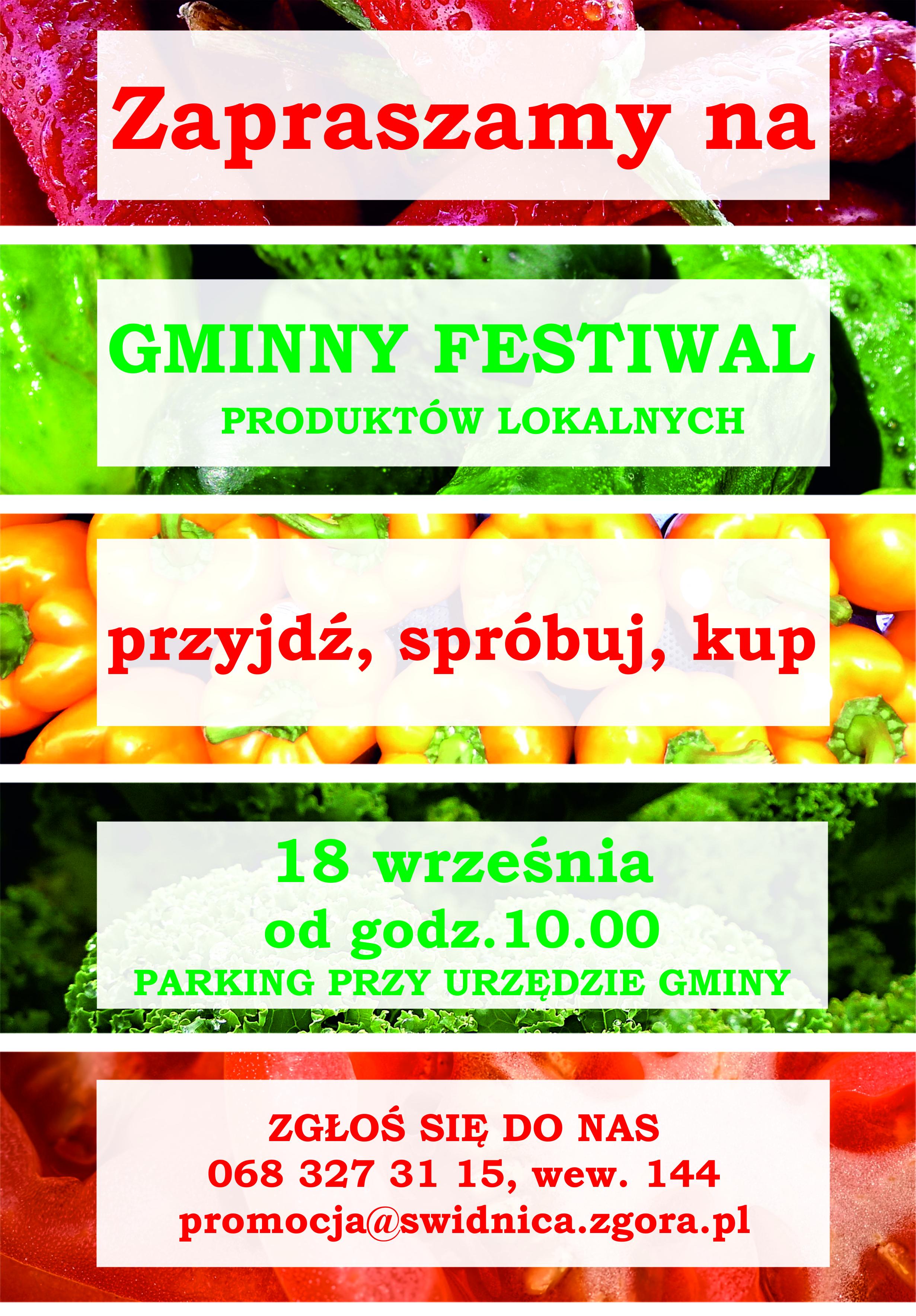 Ilustracja do informacji: Gminny festiwal produktów lokalnych