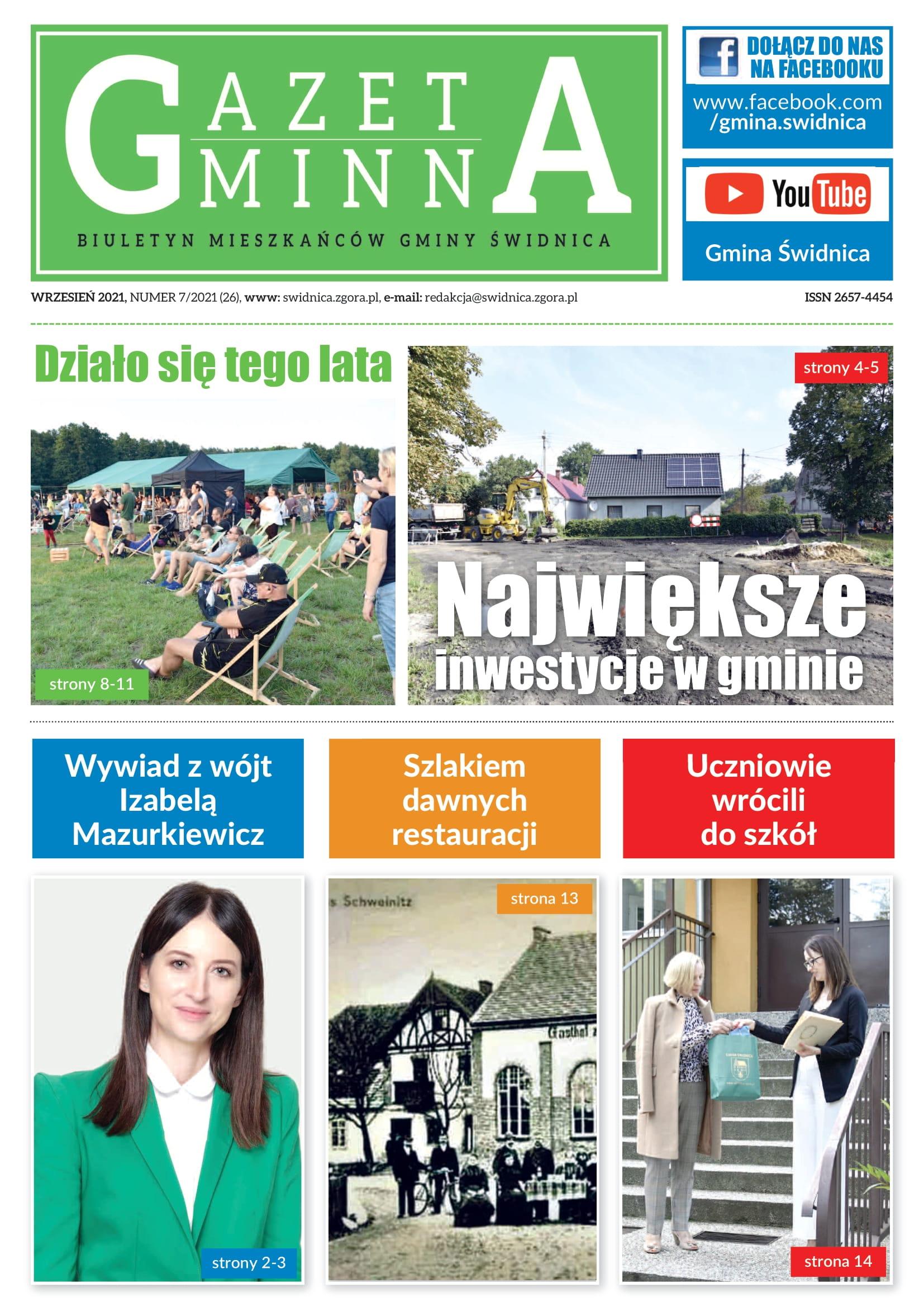 Ilustracja do informacji: Gazeta Gminna nr 7/2021
